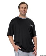 Silvert's 505400502 Adaptive Tshirt Top For Men , Size Medium, BLACK