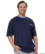 Silvert's 505400302 Adaptive Tshirt Top For Men , Size Medium, NAVY