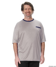 Silvert's 505400103 Adaptive Tshirt Top For Men , Size Large, GREY