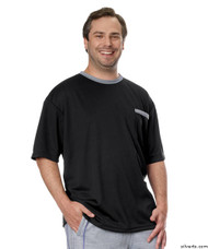 Silvert's 505400504 Adaptive Tshirt Top For Men , Size X-Large, BLACK