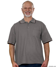 Silvert's 507100301 Adaptive Clothing Men , Size Small, SMOKE GREY