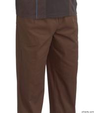 Silvert's 507900402 Full Elastic Waist Pants For Men , Size Small, BROWN