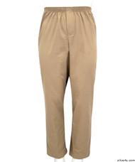 Silvert's 507900504 Full Elastic Waist Pants For Men , Size Large, BEIGE