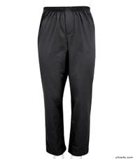 Silvert's 507900304 Full Elastic Waist Pants For Men , Size Large, BLACK