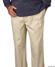 Silvert's 507910202 Full Elastic Waist Pants For Men , Size 2X-Large, TAUPE