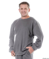 Silvert's 510300503 Mens Adaptive Fleece Sweatshirt Top , Size Medium, GREY