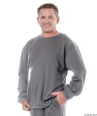 Silvert's 510300504 Mens Adaptive Fleece Sweatshirt Top , Size Large, GREY