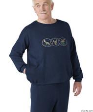 Silvert's 510310107 Mens Adaptive Fleece Sweatshirt Top , Size 3X-Large, NAVY