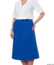 Silvert's 131300103 Womens Regular Elastic Waist Skirt With Pockets , Size 8, COBALT