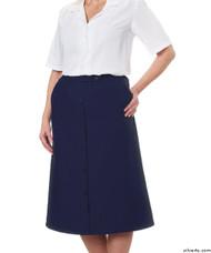 Silvert's 131300305 Womens Regular Elastic Waist Skirt With Pockets , Size 12, NAVY