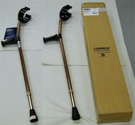 "Crutches Forearm Deluxe Ortho adjustable Medium 5' - 6'2"""