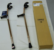 Crutches Forearm Deluxe Ortho adjustable Medium 5' - 6'2""