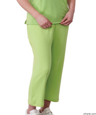 Silvert's 131600103 Womens Arthritis Elastic Waist Pull On Capris Pants, Size Medium, APPLE