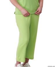 Silvert's 131600104 Womens Arthritis Elastic Waist Pull On Capris Pants, Size Large, APPLE