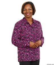 Silvert's 133000501 Mature Womens Long Sleeve Petite Blouses , Size 6P, MAUVE