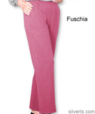 Silvert's 141200602 Regular Fleece Tracksuit Pants For Women , Size Small, FUSCHIA
