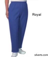 Silvert's 141200302 Regular Fleece Tracksuit Pants For Women , Size Small, ROYAL