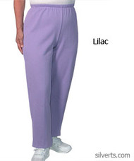 Silvert's 141200504 Regular Fleece Tracksuit Pants For Women , Size Large, LILAC