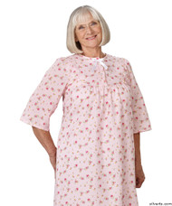 Silvert's 161300403 Womens Regular Short Cotton Sleepwear Nightgown , Size Medium, PINK PRINT