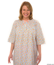 Silvert's 161300604 Womens Regular Short Cotton Sleepwear Nightgown , Size Large, CORAL
