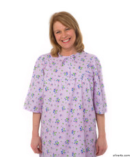 Silvert's 161300804 Womens Regular Short Cotton Sleepwear Nightgown , Size Large, LILAC