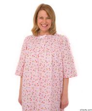 Silvert's 161300204 Womens Regular Short Cotton Sleepwear Nightgown , Size Large, PINK