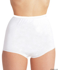 Silvert's 180000104 Womens Cotton Panties For Elderly Seniors, Size Large, WHITE