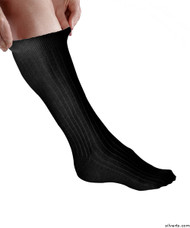 Silvert's 191600203 Womens/mens Diabetic Socks For Swollen Feet And Ankles , Size KING, BLACK