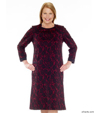 Silvert's 201000303 Adaptive Warm Open Back Wheelchair Dress , Size Large, WINE