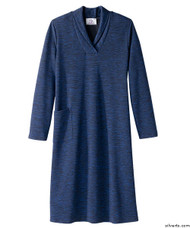 Silvert's 210600102 Ladies Winter Weight Adaptive Apparel Dress , Size Medium, COBALT