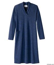 Silvert's 210600103 Ladies Winter Weight Adaptive Apparel Dress , Size Large, COBALT