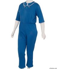 Silvert's 233301403 Womens Adaptive Alzheimers Clothing Anti Strip Suit Jumpsuit , Size Medium, COBALT