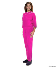 Silvert's 233300105 Womens Adaptive Alzheimers Clothing Anti Strip Suit Jumpsuit , Size X-Large, BERRY