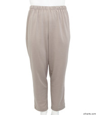 Silvert's 233800402 Womens Stretch Knit Adaptive Wheelchair Users Pant , Size Medium, TAUPE