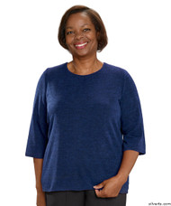 Silvert's 234610201 Adaptive Sweater Top For Women , Size 2X-Large, DENIM