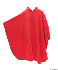 Silvert's 271030101 Unisex Wheelchair Poncho Fleece Cape, Size ONE, RED