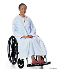 Silvert's 302001101 Terry Shower Cape  , Size ONE, BLUE