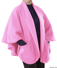 Silvert's 302431501 Womens Stylish Cozy Two Pocket Fleece Cape, Size ONE, ORCHID