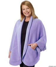 Silvert's 302431901 Womens Stylish Cozy Two Pocket Fleece Cape, Size ONE, PERIWINKLE