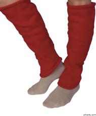 Silvert's 302600103 Women's Cozy Leg Warmers & Ankle Warmers , Size Medium, RED