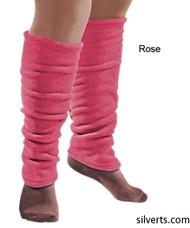 Silvert's 302600704 Women's Cozy Leg Warmers & Ankle Warmers , Size Large, ROSE