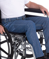 Silvert's 410530107 Wheelchair Jeans For Men , Size 40, DENIM