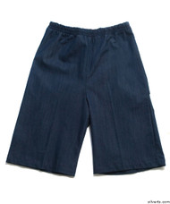 Silvert's 500400501 Mens Adaptive Shorts , Size X-Small, DARK DENIM