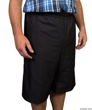 Silvert's 500400302 Mens Adaptive Shorts , Size Small, BLACK