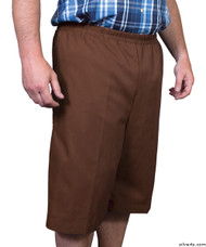 Silvert's 500400404 Mens Adaptive Shorts , Size Large, BROWN