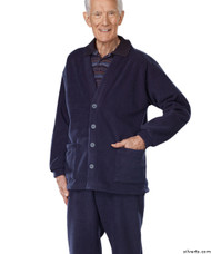 Silvert's 500700202 Adaptive Clothing For Men , Size Small, NAVY
