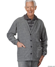 Silvert's 500700404 Adaptive Clothing For Men , Size Large, GREY