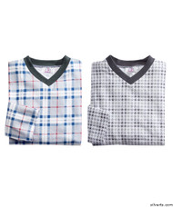 Silvert's 501400102 Mens Adaptive Flannel Hospital Gowns , Size Medium, 2-PACK