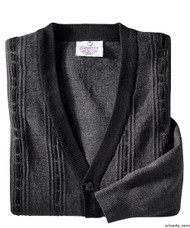 Silvert's 503700303 Cardigan Sweater For Men With Pockets , Size Large, CHARCOAL