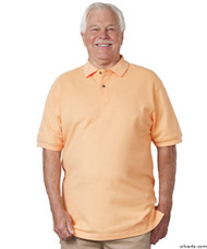 Silvert's 504900401 Mens Regular Knit Polo Shirt , Size Small, ORANGE
